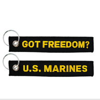 Key Chain, Embroidered U.S. Marines