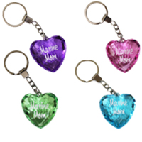 Key Chain: Marine Mom Heart Key Chain