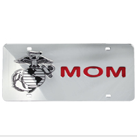 License Plate: EGA Mom Mirrored Inlaid Plastic