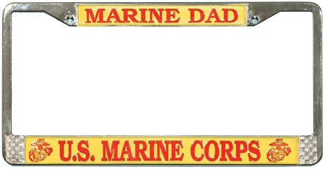 License Plate Frame: Marine Dad