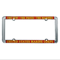 License Plate Frame: The Few The Proud (Thin Rim)