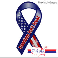 Ribbon Car Magnet: Freedom Isn't Free