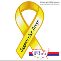 Ribbon Car Magnet: Support Our Troops