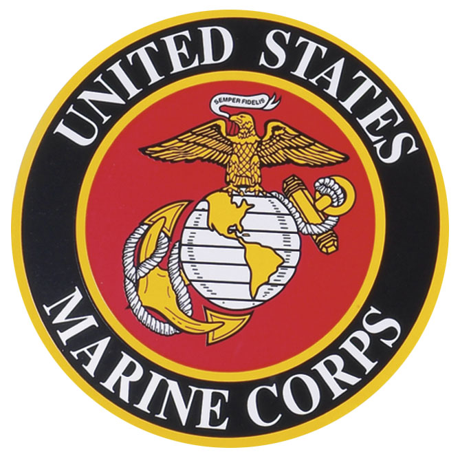 Auto Magnet Large Marine Corps Crest 11 Inches Across