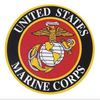 Auto Magnet: Large Marine Corps Crest (11 inches across)
