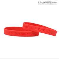Wristband: 1st Btn MCRD (Red)