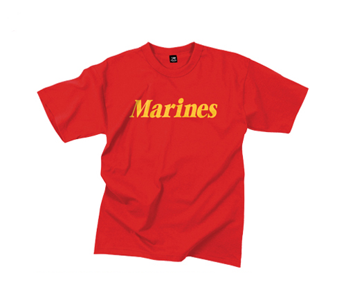 Z T-Shirt: Classic Marines (Yellow on Red)