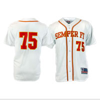 Jersey, Baseball: Semper Fi (White/Red)