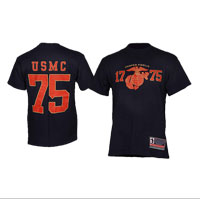 Jersey-Style T-Shirt: USMC (Navy/Red)