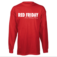 __T-Shirt: Red Friday...It's a Military Thing (Long Sleeve)