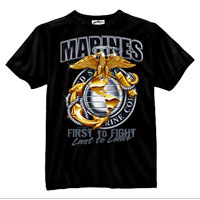 T-Shirt: Marine Globe & Anchor (By Black Ink)