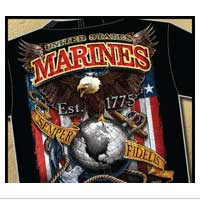 T-Shirt: USMC Fighting Eagle (front and back)