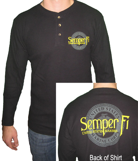 Shirt: Marine Seal and Semper Fi (Long Sleeve, Thermal)
