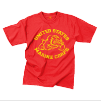 T-Shirt: Vintage US Marine Corps Bulldog (Red)