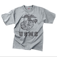 T-Shirt: USMC Globe & Anchor (Grey)