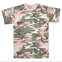 Camo T-Shirt: Subdued Pink Camo