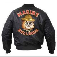 Jacket: Marine Bulldogs MA-1 Flight Jacket