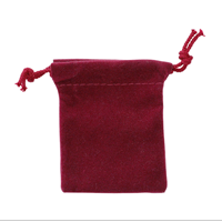 "Accessory, Small 2 1/2"" x 3 1/2"" Velour Pouch - Maroon"