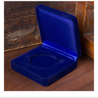 "Accessory: Velvet Presentation Box, 1 coin, 1 5/8"", Blue"