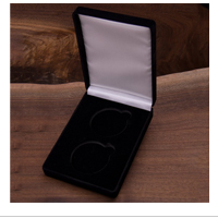 "Accessory: 2 Coin Set Velvet Box, 1.75"", Black"