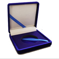 "Accessory: Blue Velvet Presentation Box, 1 coin, 1.75"", w/ Ribbon"
