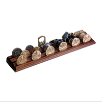 Coin Display Rack, Walnut (Small)