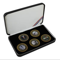 Coin Gift Set: 5 Birthday Coins, 2010-2014