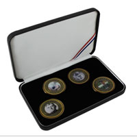 Coin Gift Set: 4 Birthday Coins, 2012-2015