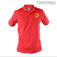 Polo, Red w/ Embroidered EGA