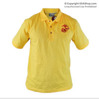 __Polo, Yellow w/ Embroidered EGA