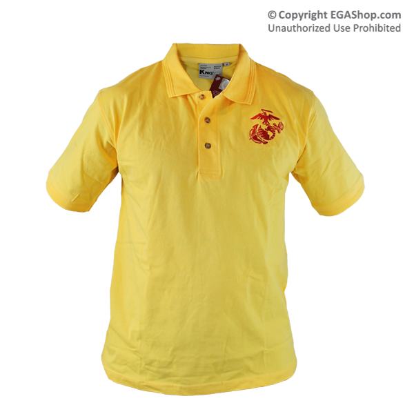 Polo, Yellow w/ Embroidered EGA