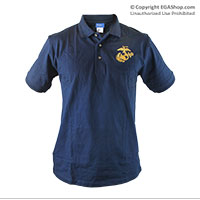 Polo, Navy w/ Embroidered EGA