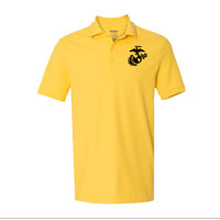 Polo, Embroidered: Yellow w/ Black EGA