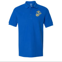 Polo, Embroidered: Royal Blue w/ Gold EGA