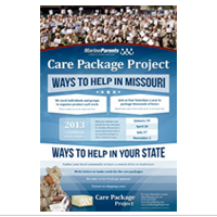 Poster: Care Package Project 2013 Packing Dates