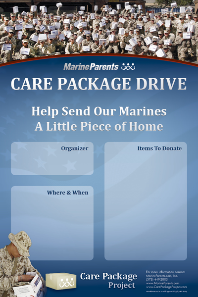 Poster: Care Package Project Drive
