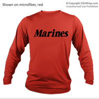 _Long Sleeve T-Shirt (Unisex Microfiber): Marines