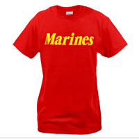 T-Shirt: Marines (Red)