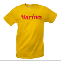 T-Shirt: Marines (Yellow)