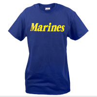 T-Shirt: Marines (Blue)