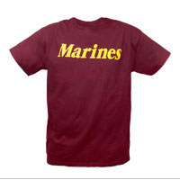 T-Shirt: Marines (Maroon)
