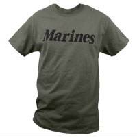 T-Shirt: Marines (Military Green)