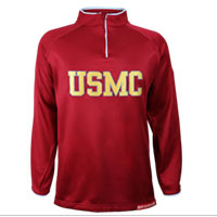 _Jacket, USMC Embroidered on Red (1/4 Zip)
