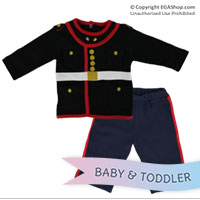 Baby Set: Dress Blue Top and Pant (2-pc)