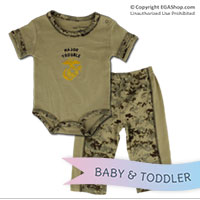 Baby Set, Major Trouble (Sand, 2-pc)