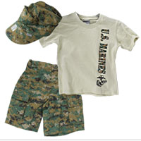 Youth Set: Woodland Shorts, Sand Shirt and Cover (Woodland Digital 3-pc)