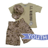 Youth Set: Shorts, Sand Shirt and Cover (Light Desert Digital 3-pc)
