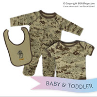Baby Set: Desert Bib, Onesie, and Crawler (Teddy Bear)