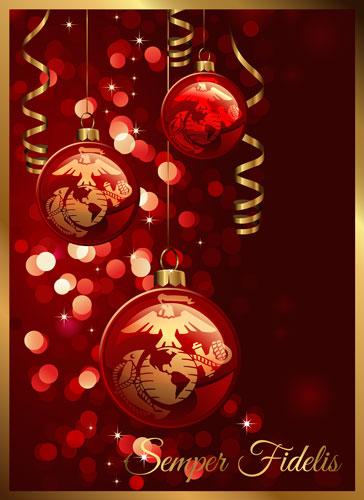 Christmas Cards: Red/Gold Variety EGA (Pkg of 12)
