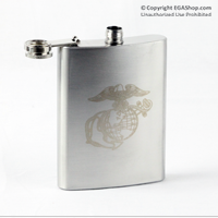 Flask: with Eagle Globe and Anchor